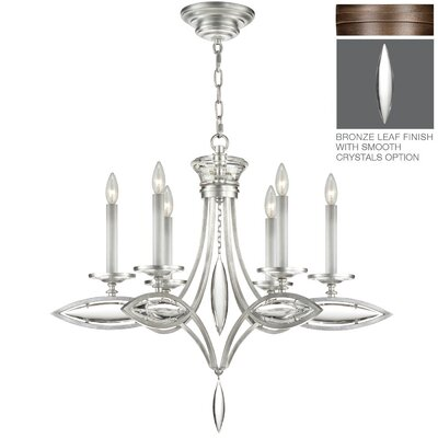 Marquise 6-Light Candle-Style Chandelier Finish: Rubbed Bronze