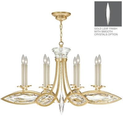 Marquise 8-Light Candle-Style Chandelier Finish: Florentine Brushed Gold