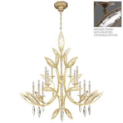 Marquise 16-Light Candle-Style Chandelier Finish: Rubbed Bronze