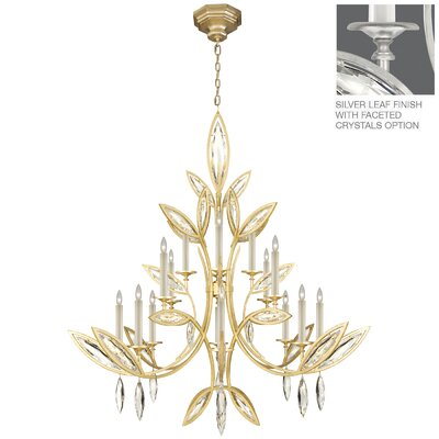 Marquise 16-Light Candle-Style Chandelier Finish: Platinized Silver