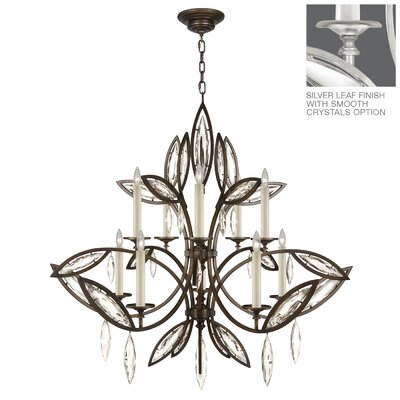 Marquise 10-Light Candle-Style Chandelier Finish: Platinized Silver