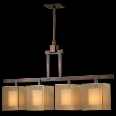 Quadralli 4-Light Kitchen Island Pendant Finish: Rich Bourbon