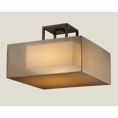 Quadralli 2-Light Semi Flush Mount