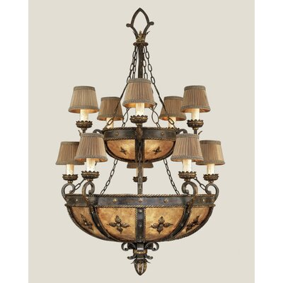 Castile 10-Light Shaded Chandelier