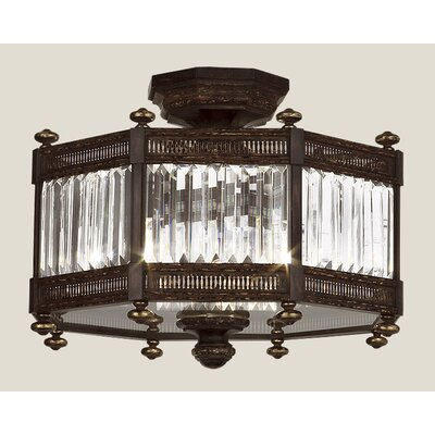 Eaton Place 3-Light Semi Flush Mount
