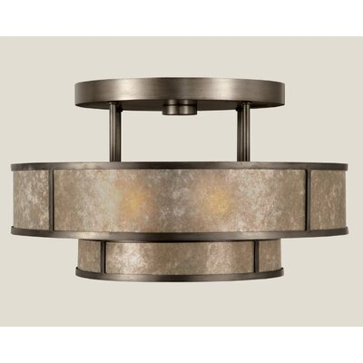 Singapore Moderne 3-Light Semi Flush Mount