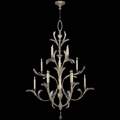 Beveled Arcs 16-Light Candle-Style Chandelier Finish: Silver