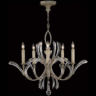 Beveled Arcs 5-Light Candle-Style Chandelier Finish: Silver
