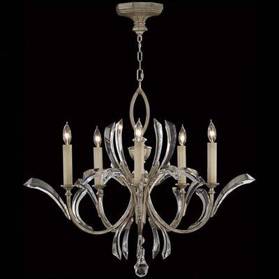 Beveled Arcs 5-Light Candle-Style Chandelier Finish: Silver