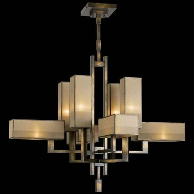Perspectives 8-Light Shaded Chandelier Finish: Gold