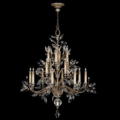 Crystal Laurel 16-Light Candle-Style Chandelier