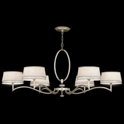 Allegretto Silver 6-Light Shaded Chandelier
