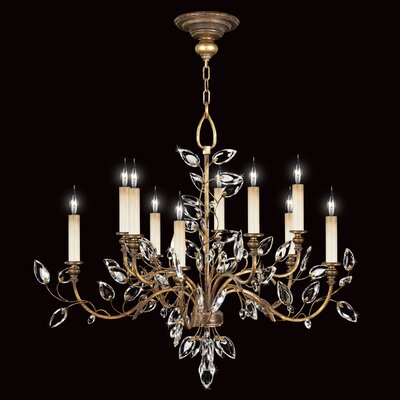 Crystal Laurel 10-Light Candle-Style Chandelier