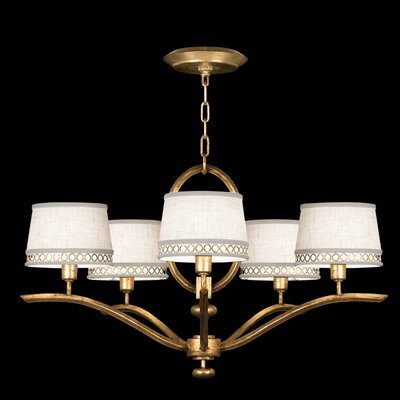 Allegretto 5-Light Shaded Chandelier Finish: Gold