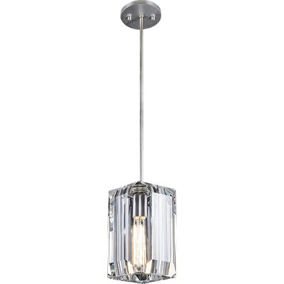 Monceau 1-Light Mini Pendant Finish: Platinized Silver