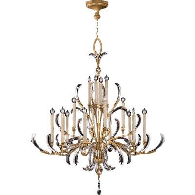 Beveled Arcs 16-Light Candle-Style Chandelier Finish: Gold