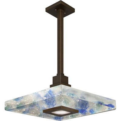 Crystal Bakehouse 1-Light Mini Pendant Shade Color: Cobalt and Aqua