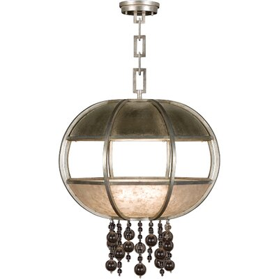 Singapore Moderne 8-Light Globe Pendant Finish: Muted Silver Leaf