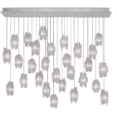 Natural Inspirations 28-Light Pendant Finish: Platinized Silver