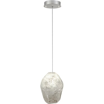 Natural Inspirations 1-Light Mini Pendant Finish: Platinized Silver