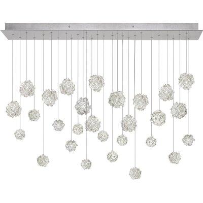 Natural Inspirations 28-Light Cascade Pendant Finish: Platinized Silver