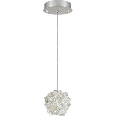 Natural Inspirations 1-Light Mini Pendant Finish: Platinized Silver