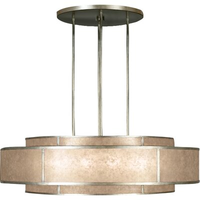 Singapore Moderne 12-Light Drum Pendant Finish: Muted Silver Leaf