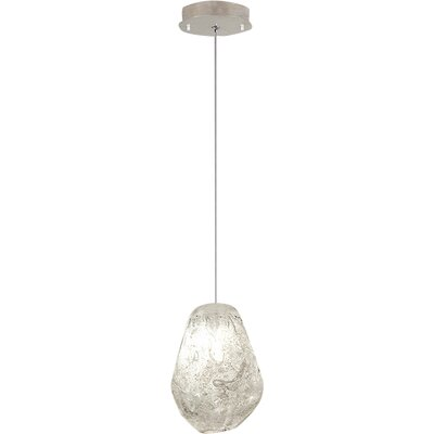Natural Inspirations 1-Light Mini Pendant Finish: Platinized Silver, Shade Color: Natural