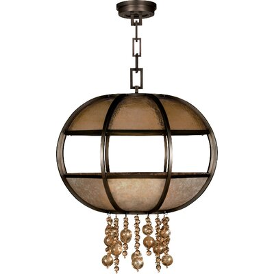 Singapore Moderne 8-Light Globe Pendant Finish: Brown Patinated Bronze