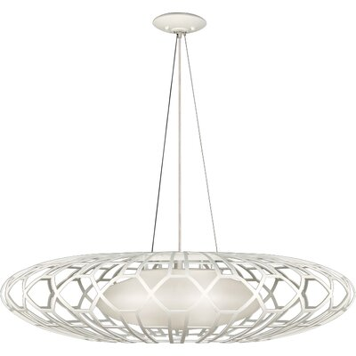 Allegretto Gold 3-Light Geometric Pendant Finish: Platinized Silver Leaf
