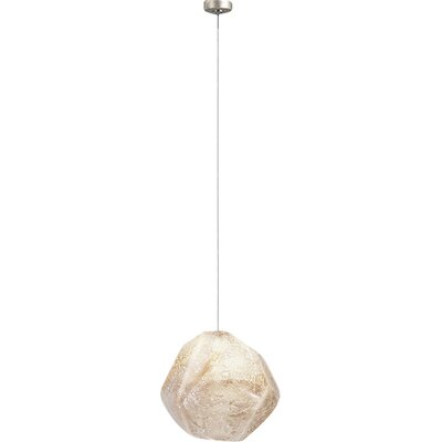 Natural Inspirations 1-Light Mini Pendant Finish: Gold Toned Silver, Shade Color: Clear