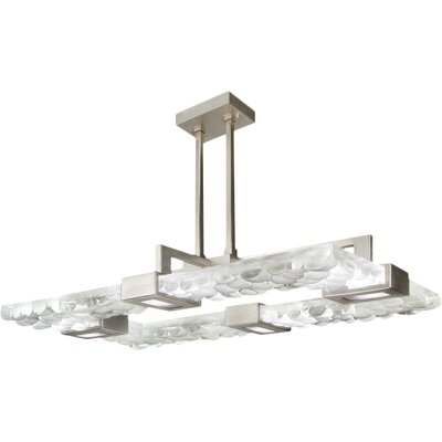 Crystal Bakehouse 4-Light Geometric Pendant Finish: Silver, Shade Color: Clear