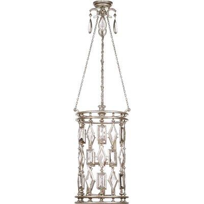 Encased Gems 6-Light Foyer Pendant Crystal Color: Clear