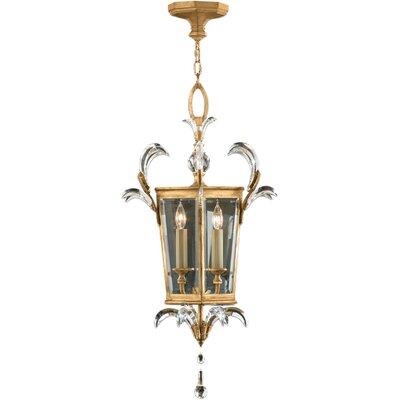 Beveled Arcs Gold 3-Light Foyer Pendant
