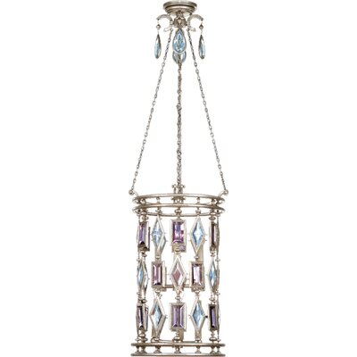 Encased Gems 6-Light Foyer Pendant Crystal Color: Brown-Amber-Emerald-Peridot