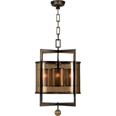 Singapore Moderne 4-Light Foyer Pendant Finish: Brown Patinated Bronze