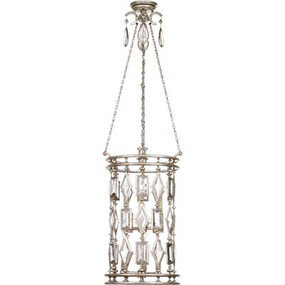 Encased Gems 6-Light Foyer Pendant Crystal Color: Clear