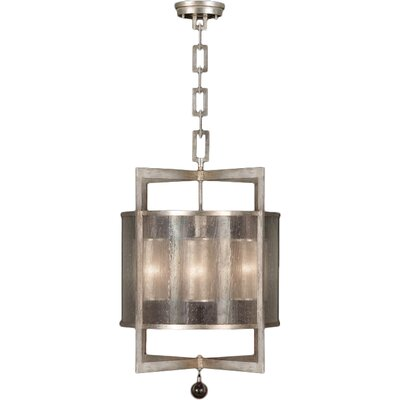 Singapore Moderne 4-Light Foyer Pendant Finish: Muted Silver Leaf