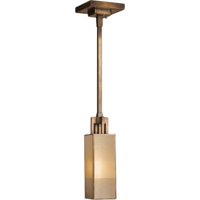 Perspectives 1-Light Drop Pendant Finish: Patinated Golden Bronze