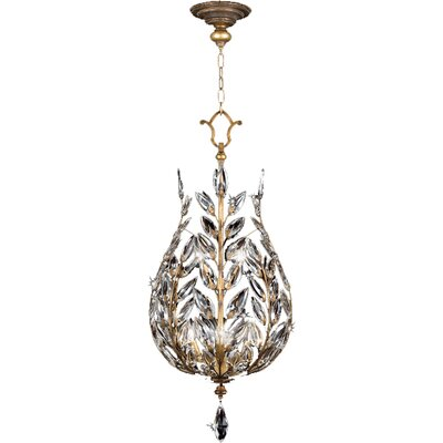 Crystal Laurel Gold 6-Light Foyer Pendant
