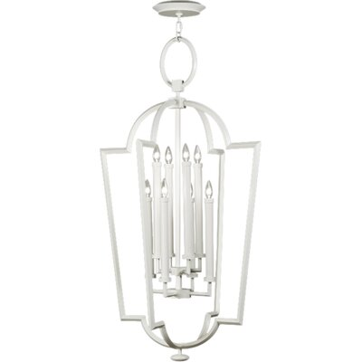 Allegretto Silver 8-Light Foyer Pendant Finish: Platinized Silver Leaf