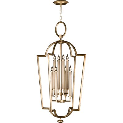 Allegretto Silver 8-Light Foyer Pendant Finish: Burnished Gold Leaf