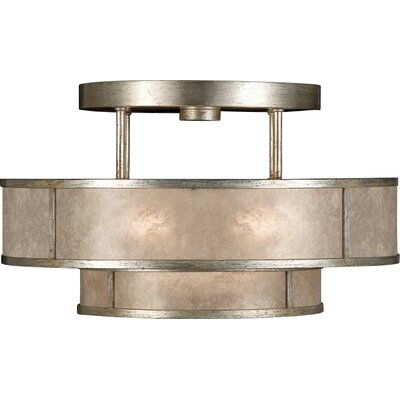 Singapore Moderne Silver 3-Light Semi Flush Mount