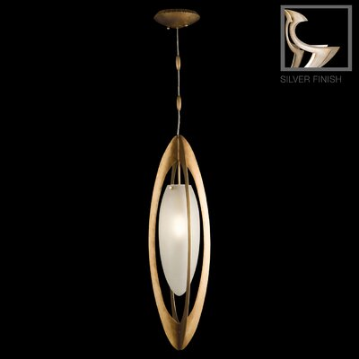Staccato 1-Light Foyer Pendant Finish: Silver Toned Leaf