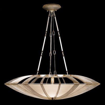 Staccato 1-Light Bowl Pendant Finish: Silver Toned Leaf