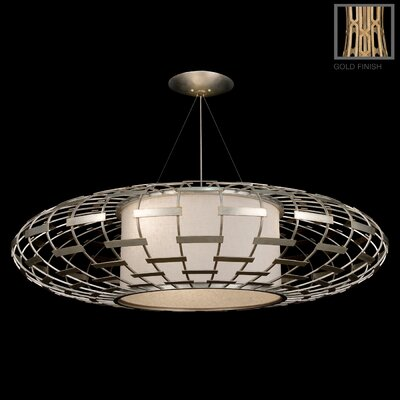 Allegretto 3-Light Drum Pendant Finish: Burnished Gold Leaf