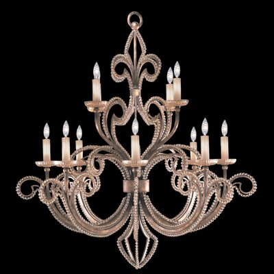A Midsummer Nights Dream 12-Light Candle-Style Chandelier Finish: Silver