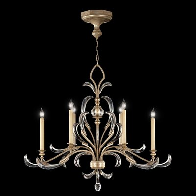 Beveled Arcs 6-Light Candle-Style Chandelier