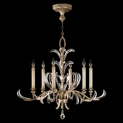 Beveled Arcs 6-Light Candle-Style Chandelier Finish: Silver