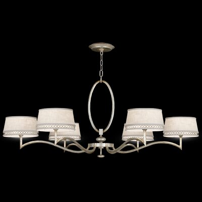 Allegretto Silver 6-Light Drum Chandelier